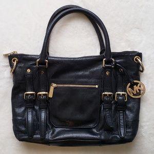 Michael Kors Shiny Black Leather Purse